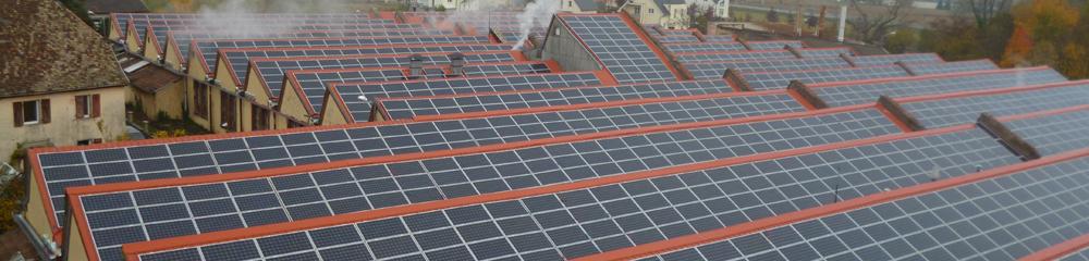 Usine de textile à Cernay puissance 1.3MWc. Supervision et maintenance pour le compte de la société Krannich Solar Project.