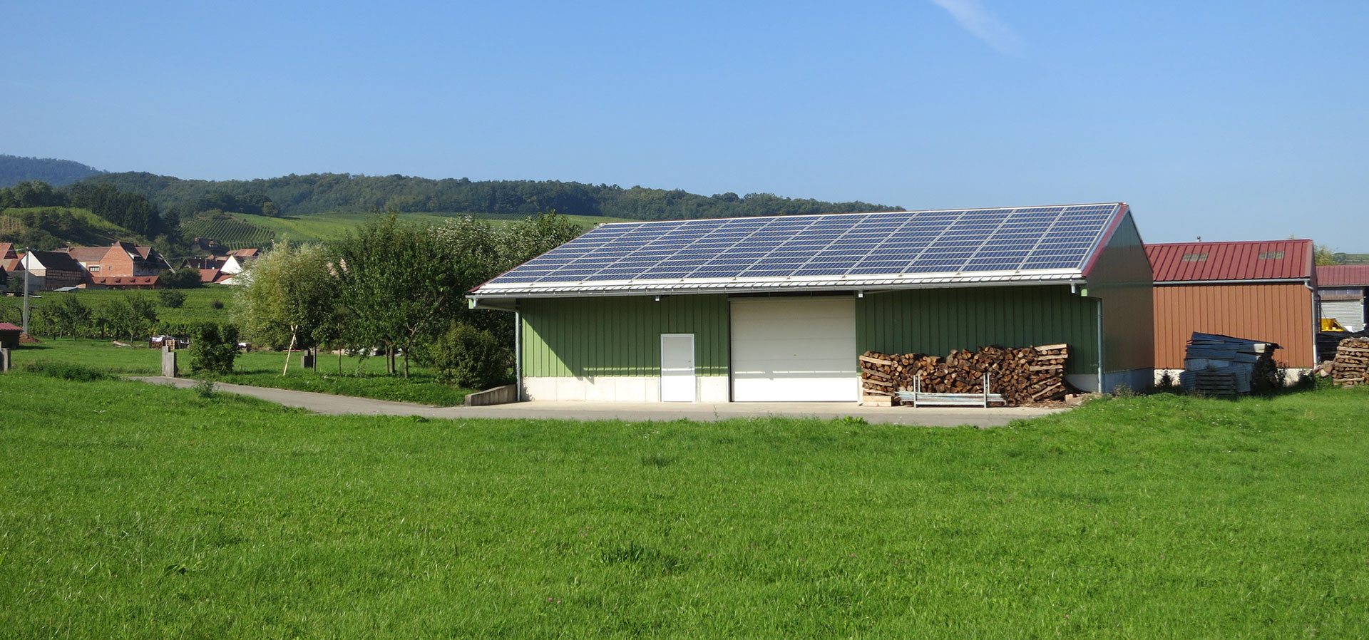 Nos r alisations jk energie - Hangar agricole photovoltaique gratuit ...
